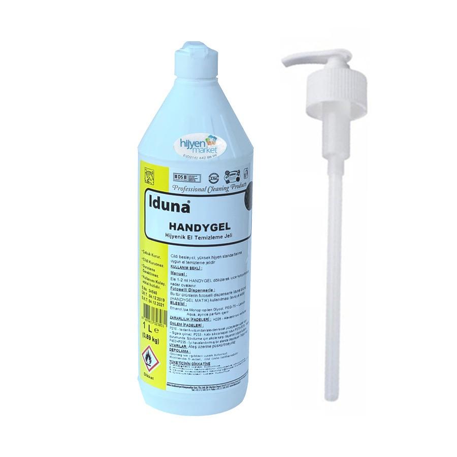 iduna handygel ethanol jel hijyenik el temizleme maddesi 1 litre 999194